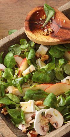 Erntedank Menü - Vorspeise - Herbstsalat #saladeautomne