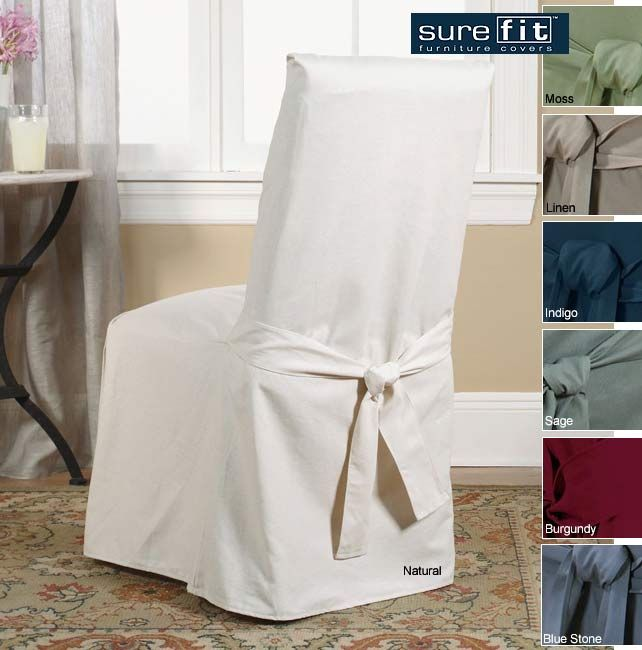 Sure Fit Cotton Classic Dining Chair Slipcover By