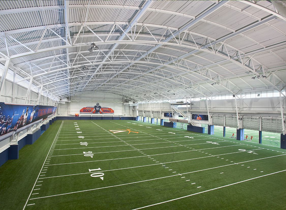 The University Of Virginia S Indoor Practice Facility Houses A