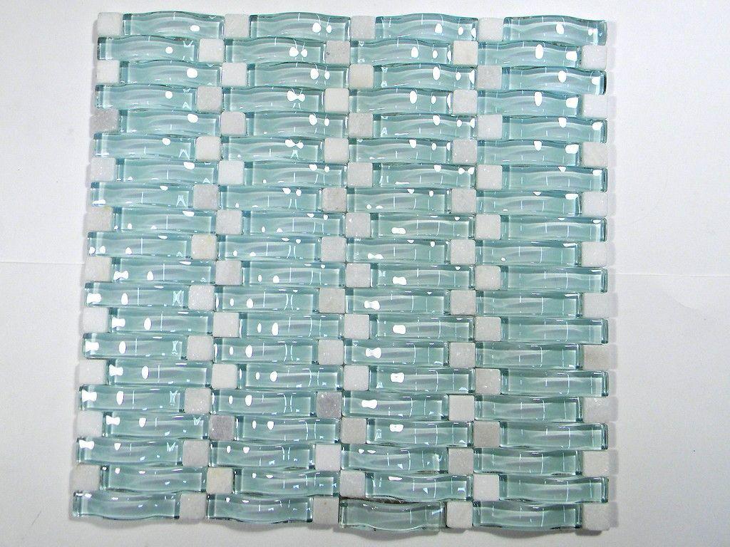 Light Mint Green Wavy 3d Glass Mosaic Mosaic Glass Light Mint Green Bathroom Inspiration Decor