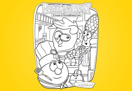 Beauty And The Beet Coloring Page Veggietales Coloring Pages