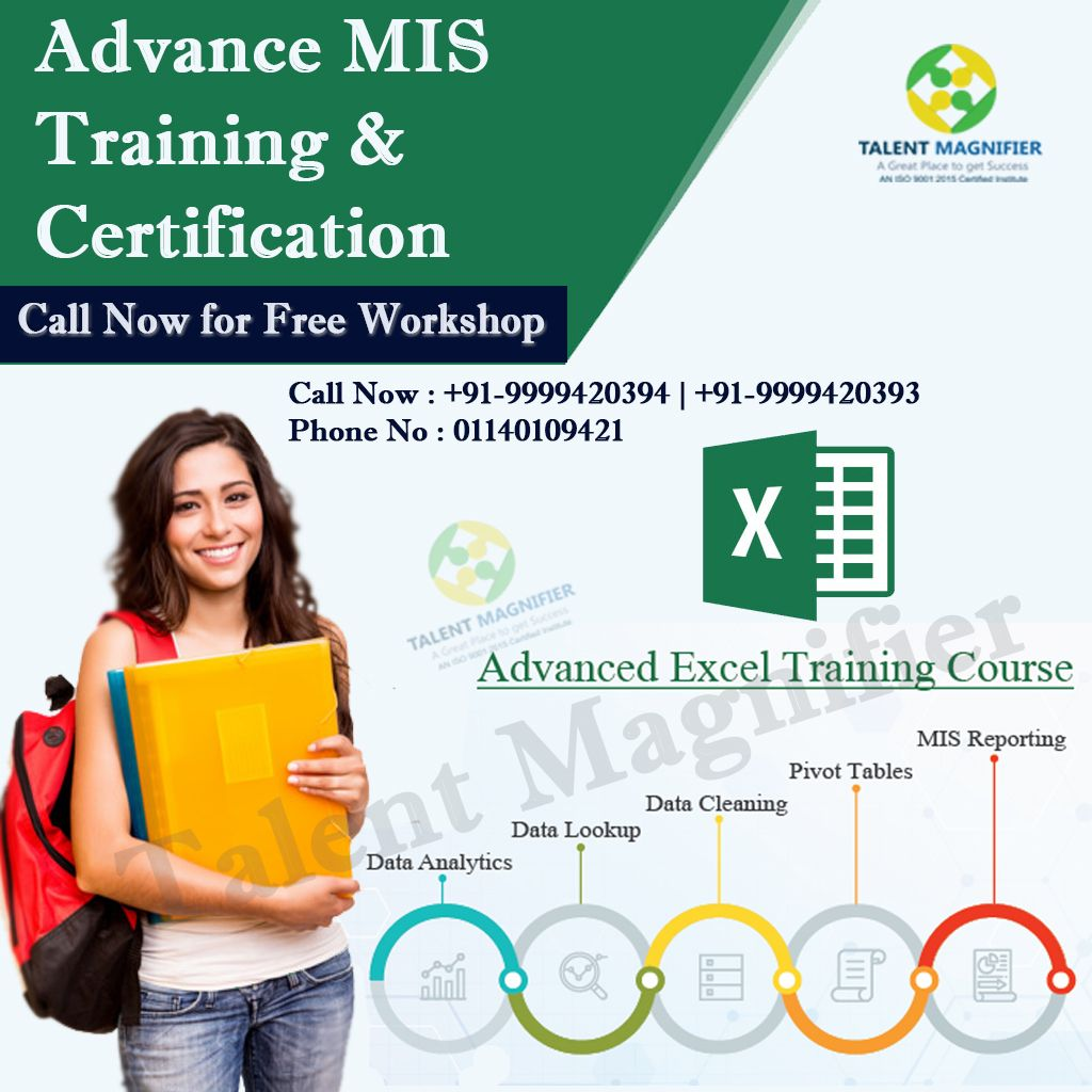 Advanced Excel Training With Certification Data Analyst Excel Training Courses