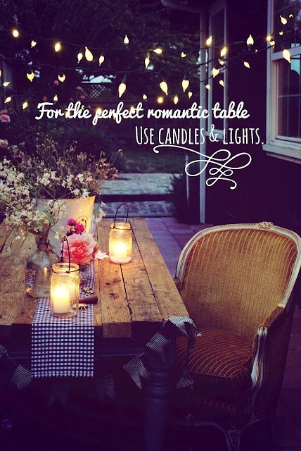 Simple And Sweet Dinner Decoration Romantic Dinners Summer Tables