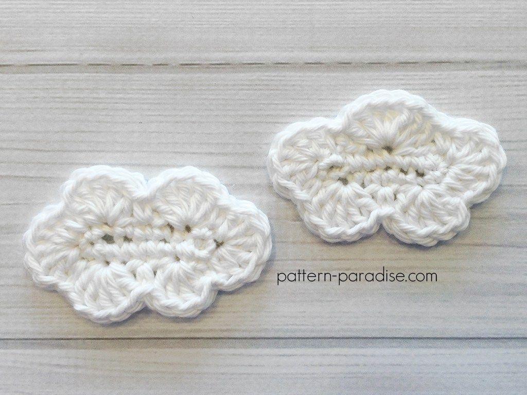 Free Crochet Pattern: Cloud Applique | CROCHET Apliques y flores ...