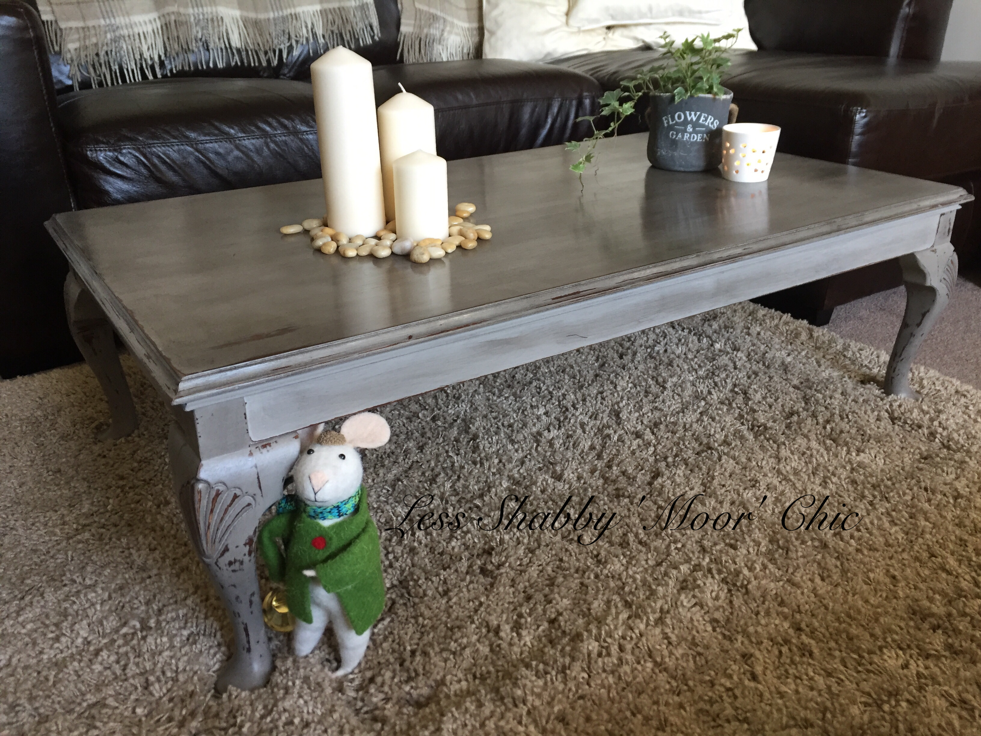 Shabby Chic Coffee Table Annie Sloan French Linen and finished