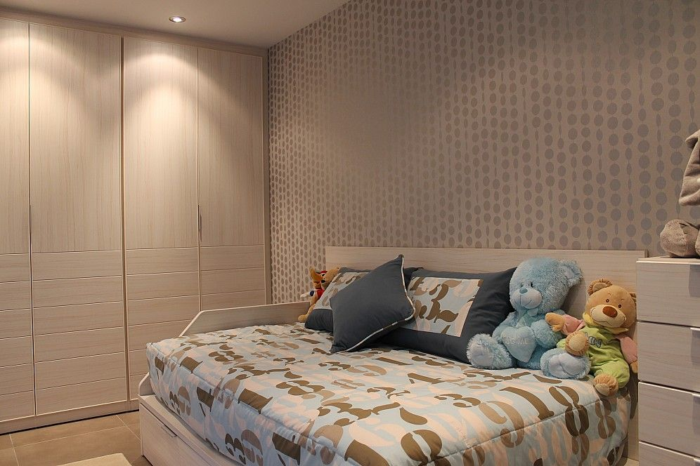Dormitorio juvenil con una cama nido de dos camas armario - Dos camas en una ...