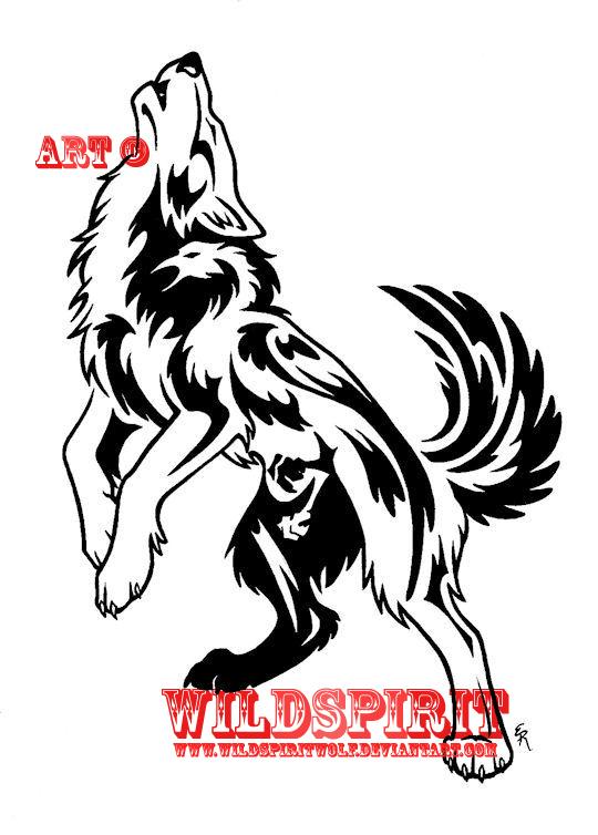 af19064f0 Howling Wolf w. Phoenix Tattoo by WildSpiritWolf on deviantart ...