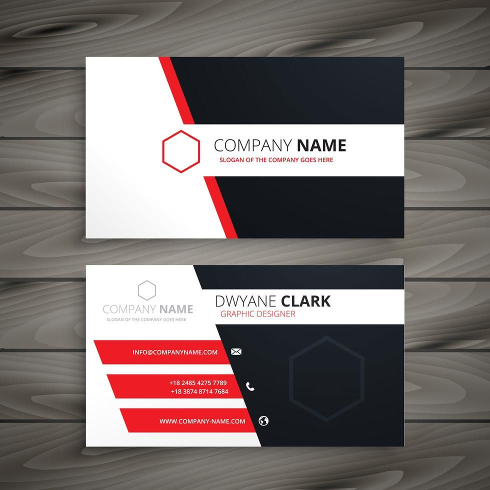 Creative Visit Card Template Vector Design Illustration Visiting