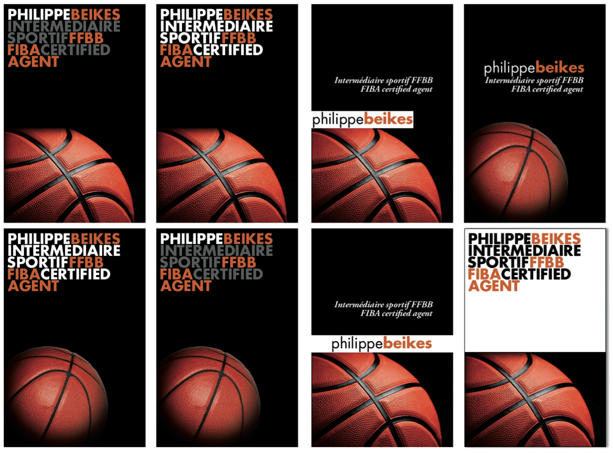Planche De Propositions Cartes Visite Identit Visuelle Et Pour BasketBall Management