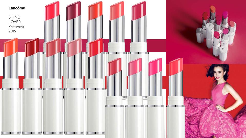 PRIMAVERA ESTATE 2015 • LANCÔME MAKEUP - the new shine lover lipstick collection