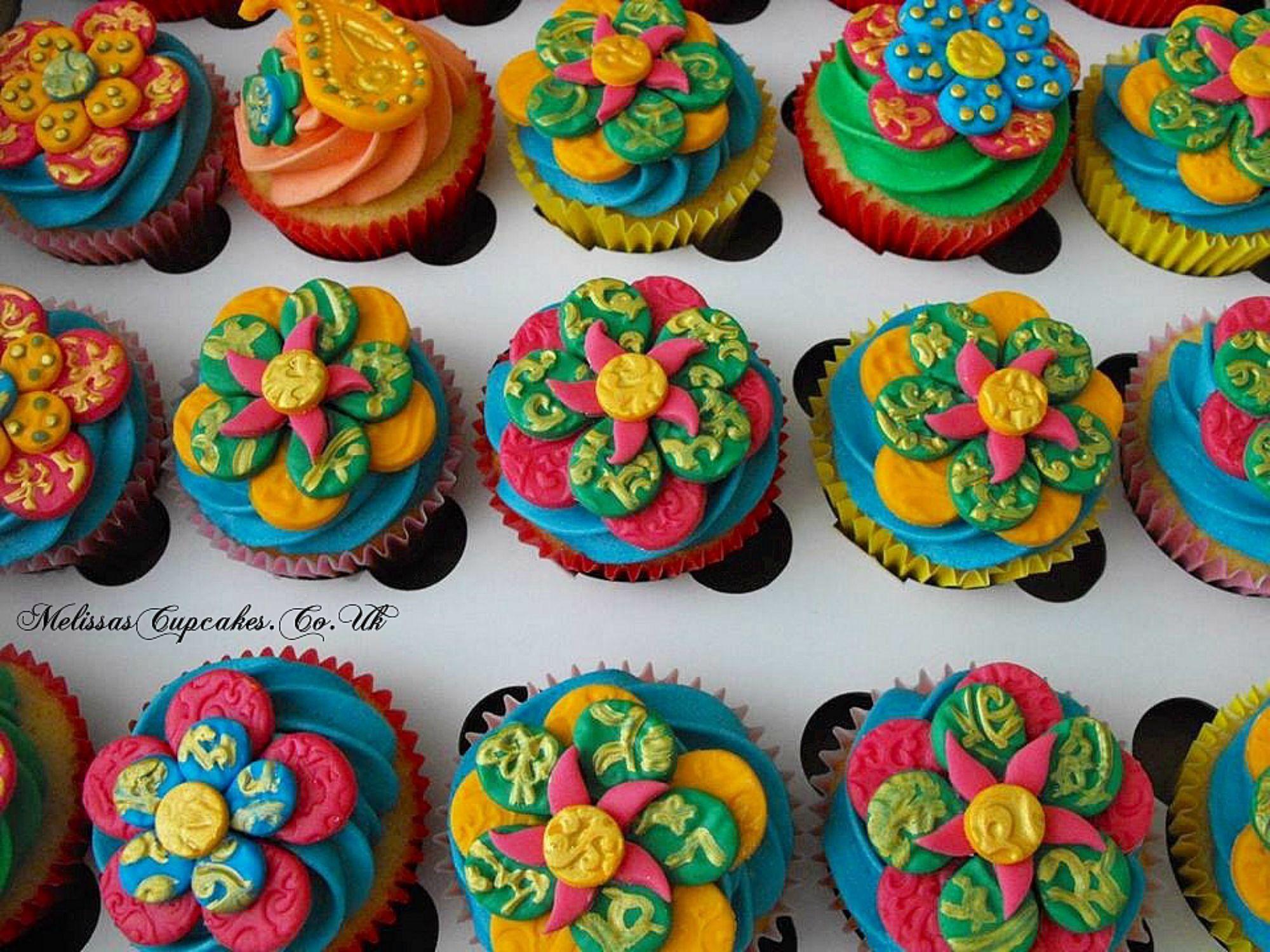 Mehndi Inspired Cake : Mehndi cupcakes novelty by melissa s