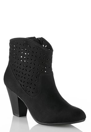 3bd3b1ed1a1f Cato Fashions Laser Cut Perforated Ankle Boots  CatoFashions. Cato Shoes ...