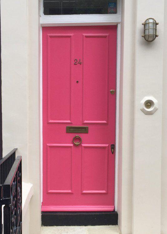 Hot Pink Fuschia Front Door Paint Color That Looks Like Sherwin Williams Exuberant Sw6840