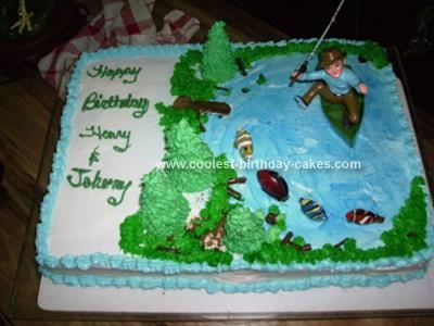 Coolest Fishing Birthday Cake 4 cakepinscom 75th birthday
