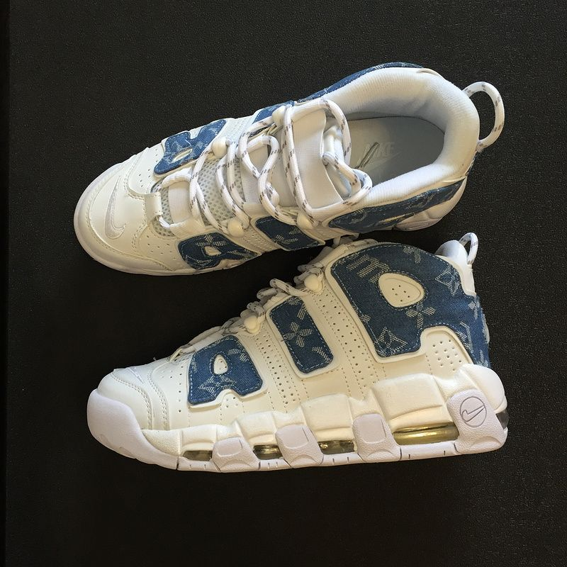 2018 Real Louis vuitton x Supreme x Nike Air More Uptempo 921948-100 ... cacfb7f20134
