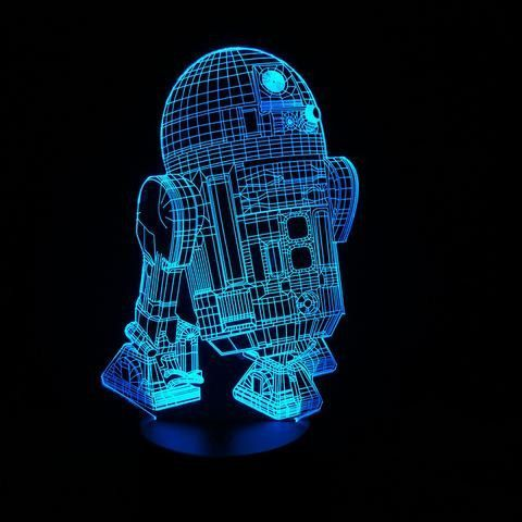 3d Star Wars Led Mood Lamps Bb 8 At At Darth Vader Yoda Storm Trooper X Wing R2 D2 3d Led Night Light Robot Night Light Led Night Light
