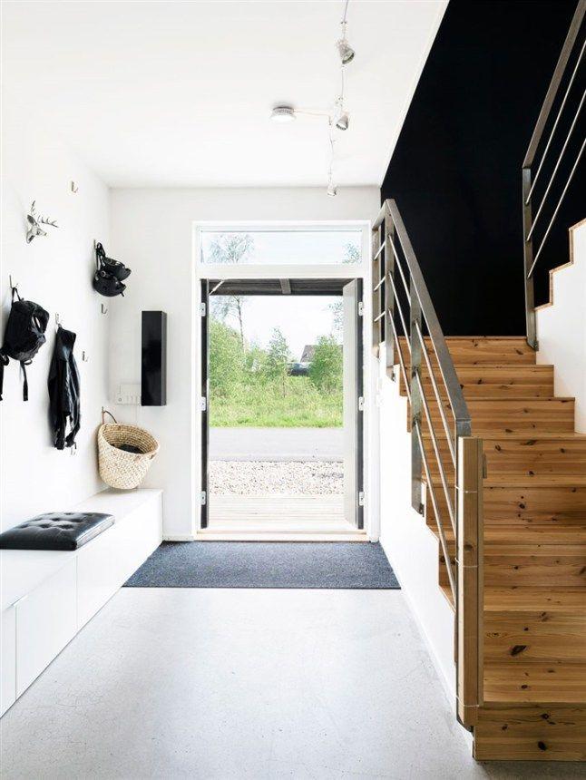 Pin von Marina Bernath auf entry Pinterest Flure, Hof und - wohnen schwarz wei