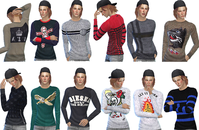 Sims 4 CC's - The Best: Sweater for Male by Gisheld