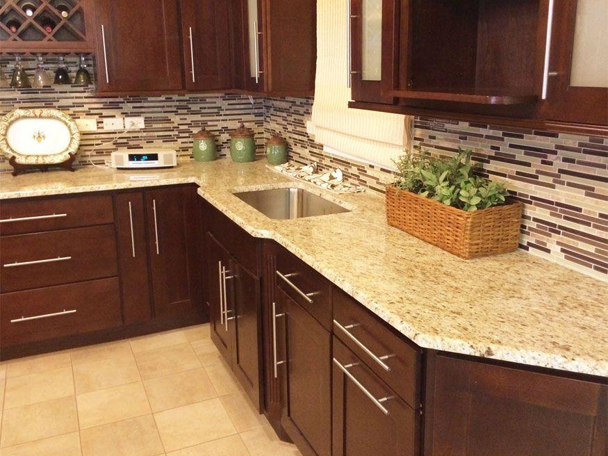 Giallo Ornamental Granite Countertops Design Ideas Brown Kitchen