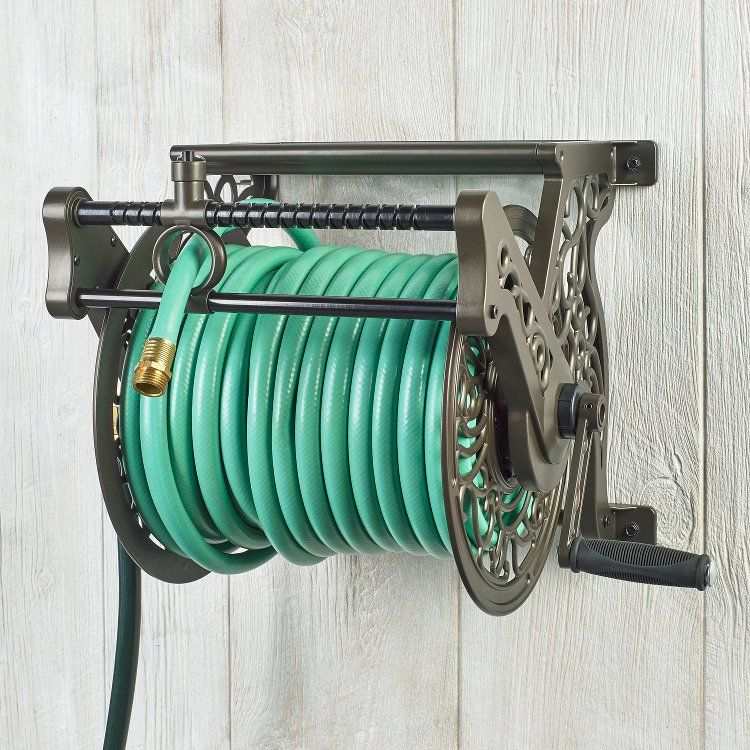 707 Wall Mounted Hose Reel With Guide Hose Reel Hose Liberty Garden
