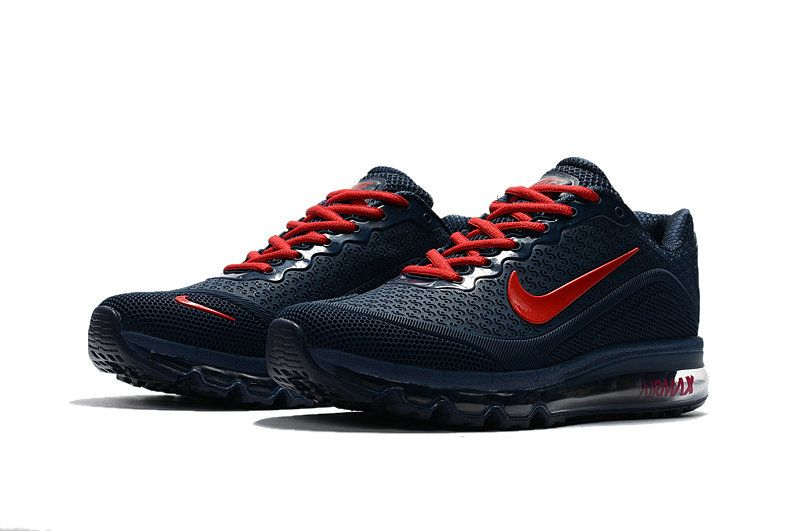304564b7b8 Chaussures de mode Nike Air Max 2017 2018 KPU Navy Blue Crimson ...