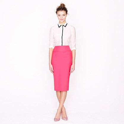 1000  images about Bright Colored Pencil Skirt on Pinterest | Pink ...