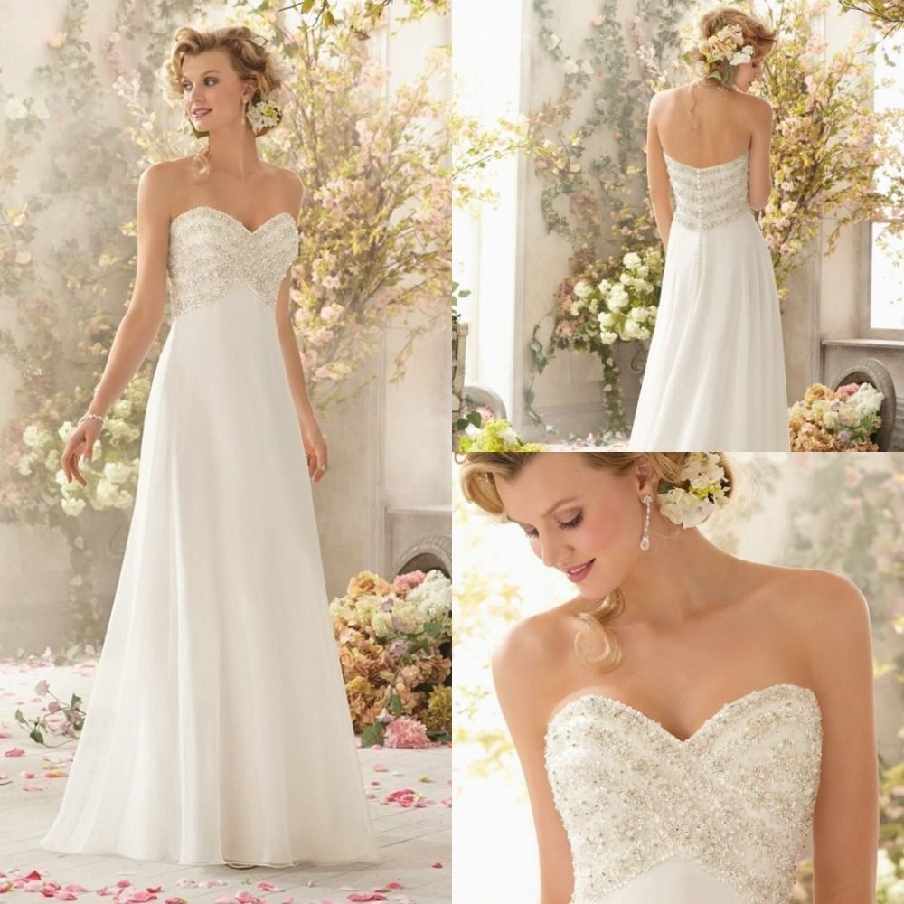 Find More Wedding Dresses Information about Sexy Open Back Beach Wedding Dresses Chiffon Appliques Beaded White Debutante Gowns Sweetheart Off the Shoulder New Arrival ,High Quality Wedding Dresses from Meeting Mr White Wedding Custom Store on Aliexpress.com