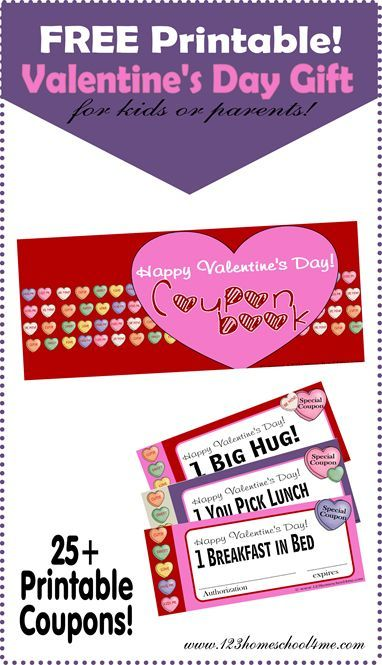 Free Printable Valentines Day Coupons  Coupons Gift And Free