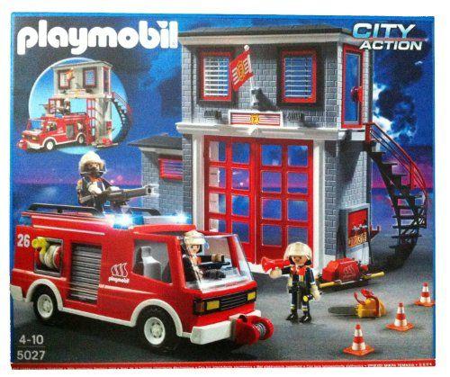 playmobil 5027 quartier gnral de la brigade de pompiers avec camion de pompier playmobil - Playmobil Pompier