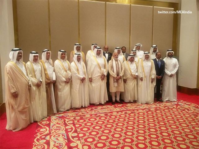 Slideshow : PM Modi with Qatari Business Leaders - PM Narendra Modi's five nation tour to Afghanistan, Qatar, Switzerland, US and Mexico - The Economic Times