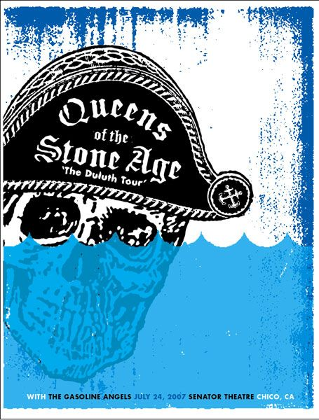 GigPosters.com - Queens Of The Stone Age The Duluth Tour with The Gasoline Angels July 24, 2007 Senator Theatre Chico, CA