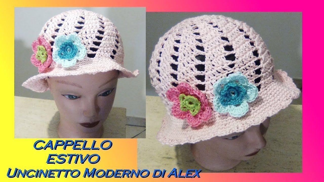 Cappello Estivo Flora Tutorial Tutte Le Taglie Uncinetto Maglia E