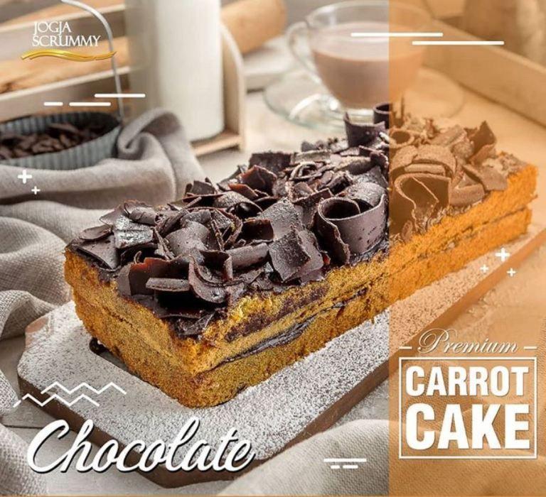 Premium Carrot Cake Cokelat Makanan Hidangan Penutup Kue