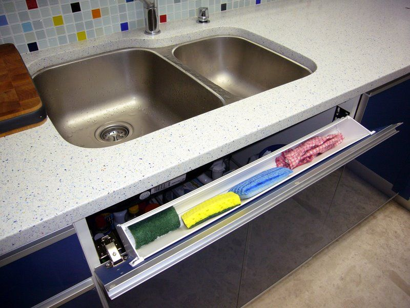 sink tilt out tray