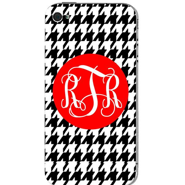 Houndstooth Personalized iPhone OR iPod Case