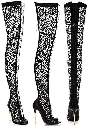 Real vs. Steal – Tom Ford Lacey Lace-Up Over-The-Knee Boots (In ...