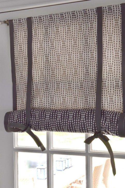 No Sew Double Sided Roll Up Diy Window Shade Once Again My Dear Irene Diy Window Treatments Diy Window Shades Diy Window