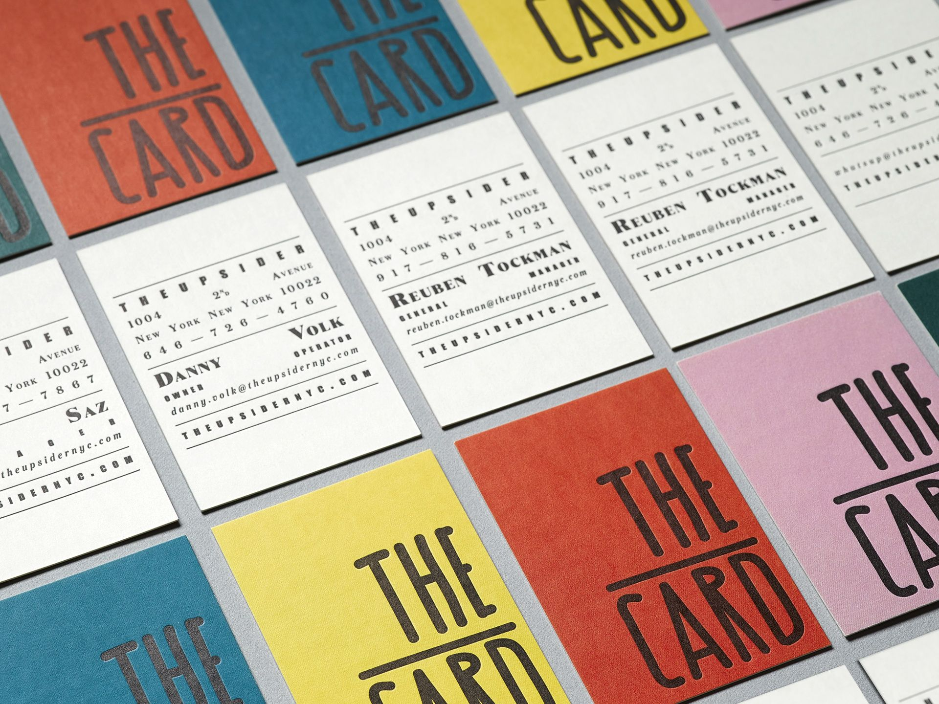 the upsider nyc letterpress business cards | DM | Postcard ...