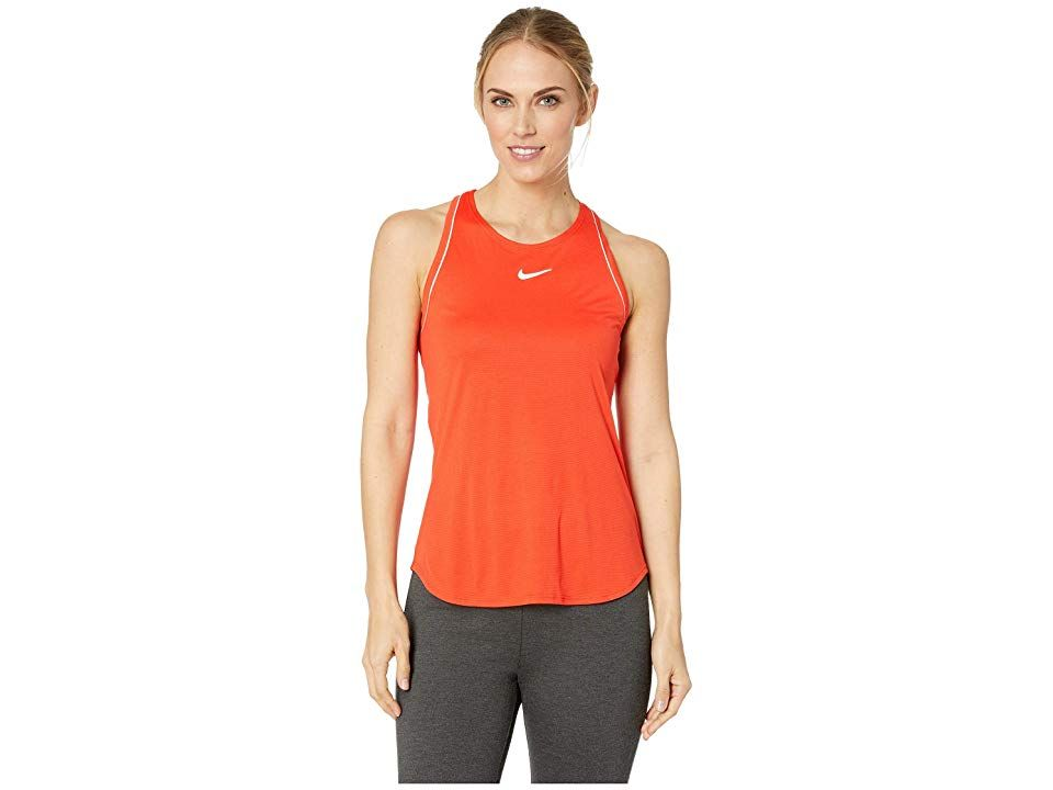 Nike Court Dry Tank Top (Habanero Red White White Habanero Red ... a19f89e47