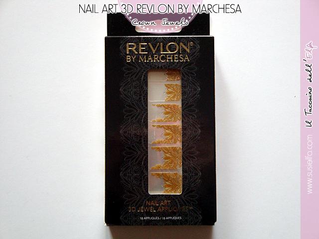 Il Taccuino dell'Elfa: Nail Art 3D Crown Jewels Revlon by Marchesa