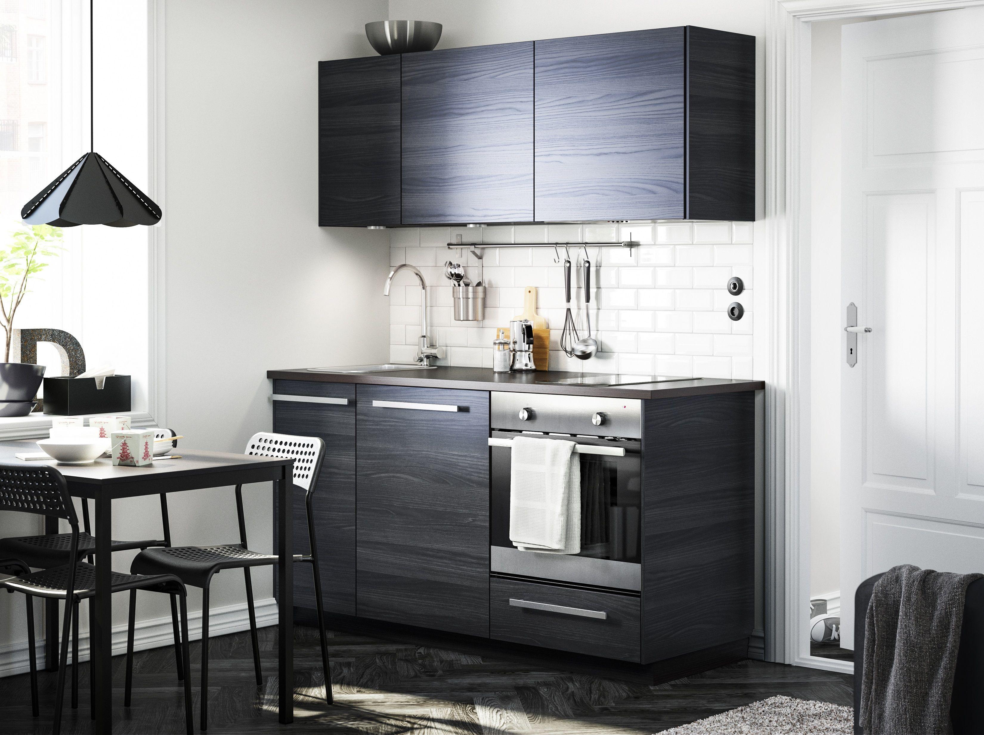 Keuken Ikea Moderne : Metod keuken #ikea #ikeanl #zwartbruin #modern #donker