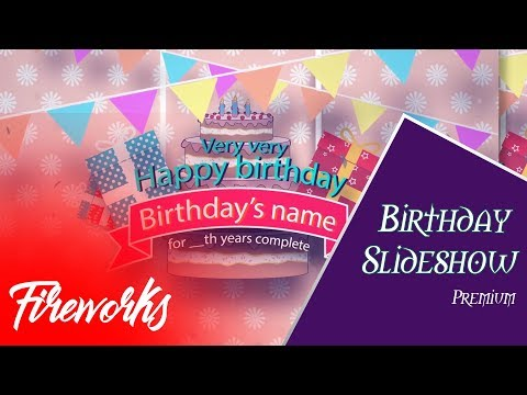 After Effects Free Template Birthday Slideshow Template