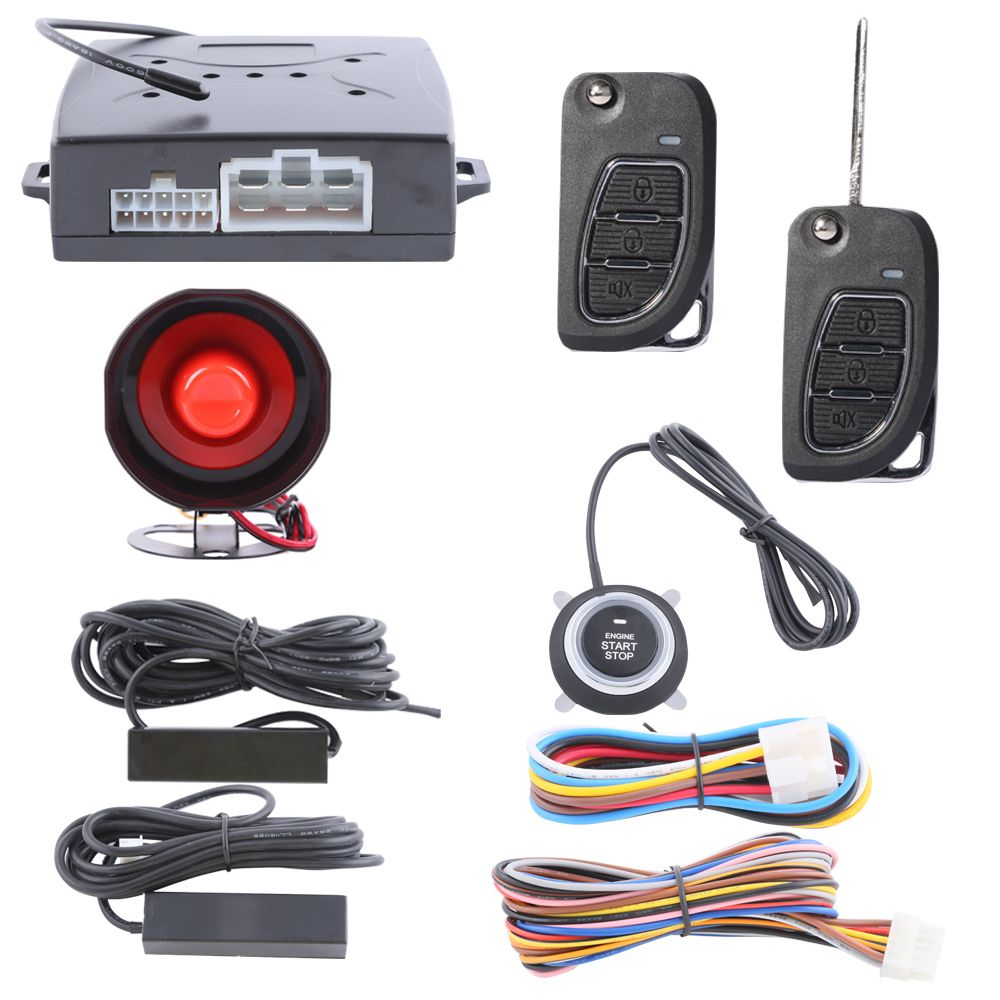 Universal car alarm kit passive keyless entry, remote lock unlock ...