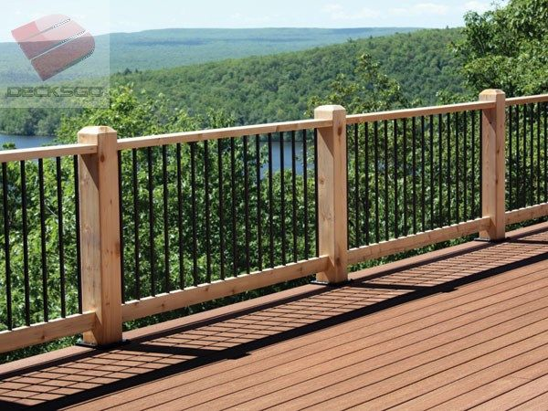 Best Beautiful Wood Railing With View Of Pocono Mountains In 400 x 300