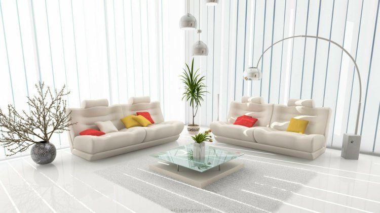 Decoration Salon Moderne Blanc. le meuble d\\u0027appoint, ponctuez ...