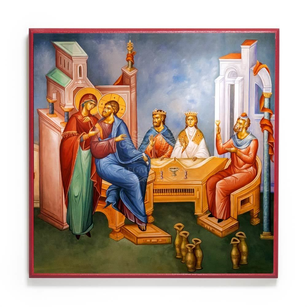 Wedding At Cana Icon F189 In 2020 Wedding Icon Water Into Wine Marriage Service