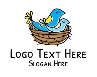Birds Nest Logo Nest Logo Logos Logo Design
