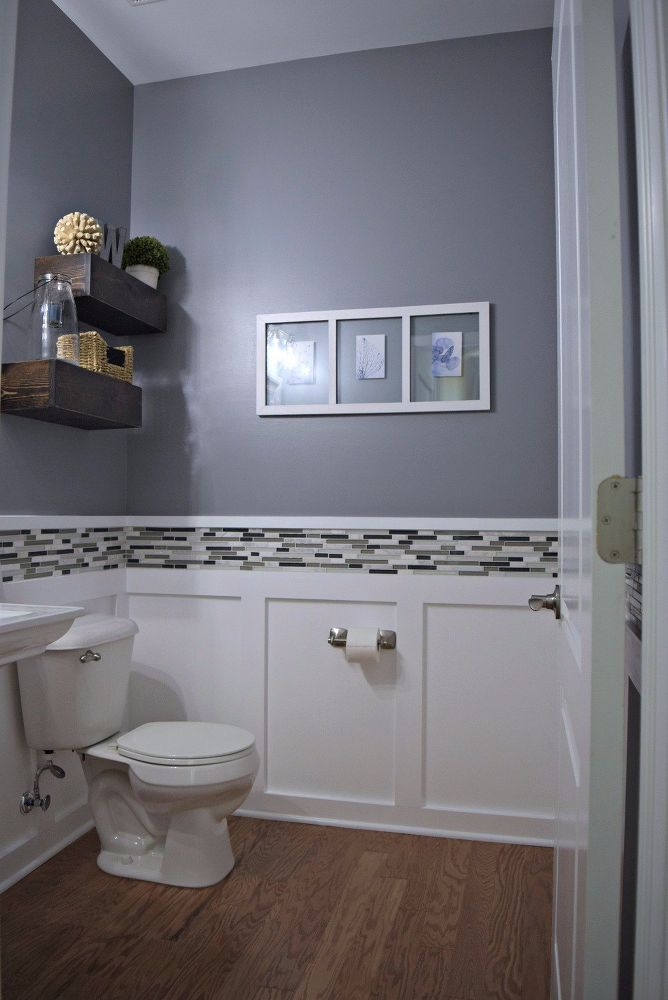 How to Makeover a Budget Powder Room DIY Home ideas in