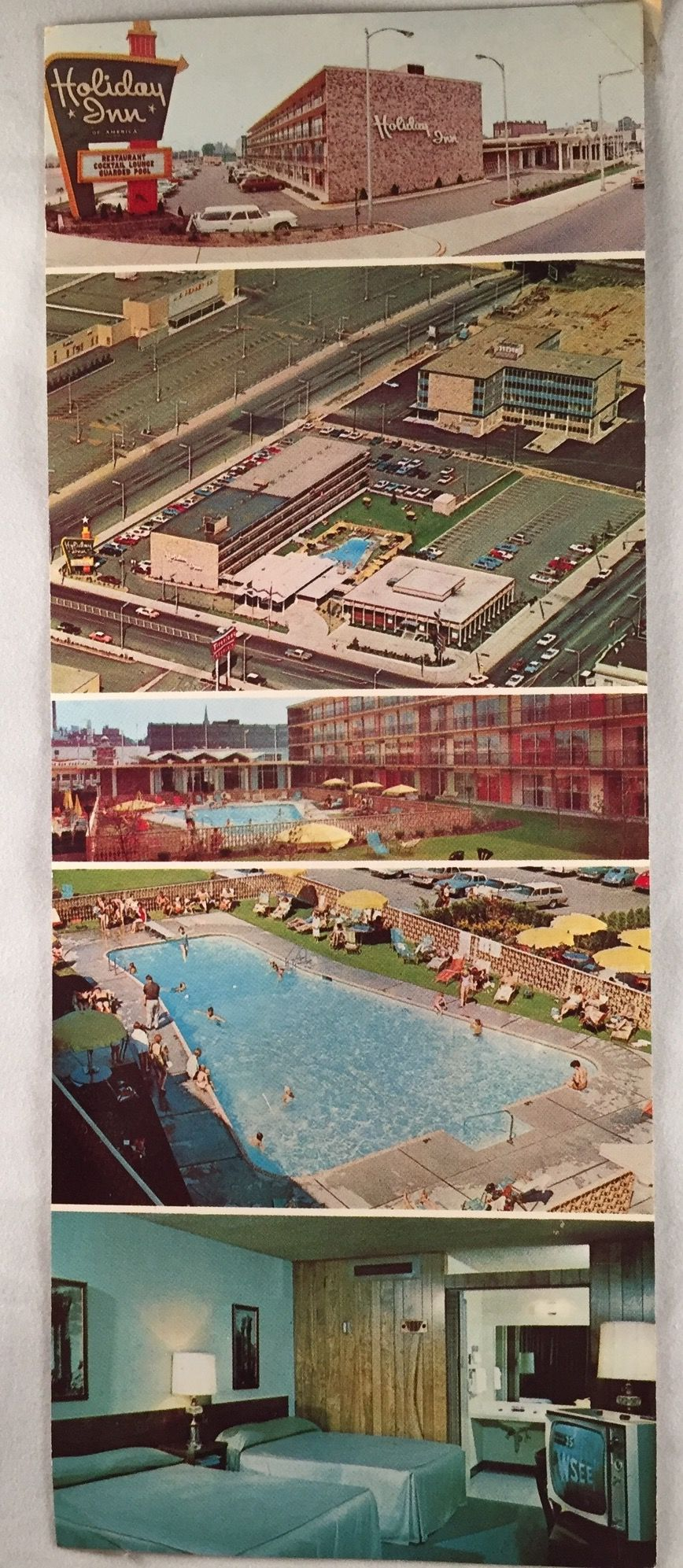 Vintage Postcard Holiday Inn Downtown Erie Pa Phone Listed