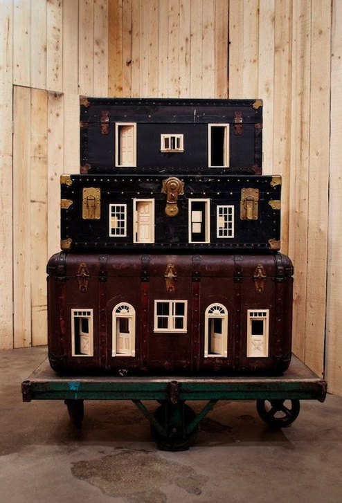 Suitcase dolls house